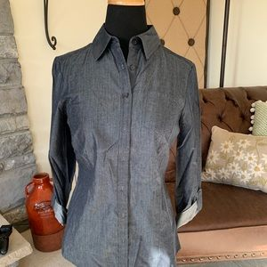 The Limited Denim Button Down - NWT Size Small